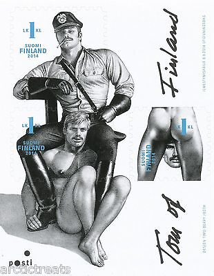 FINLAND 2014 MNH SHEET - TOM OF FINLAND - ART - Block of 3 Stamps