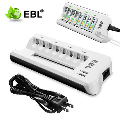 EBL 4-Slot Smart Battery Charger For 4pc Ni-MH/Ni-CD AA/AAA Rechargeable Battery