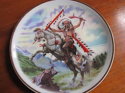 Indian Warriors Collectors Plate by Sebastia Boda Excellent Condition