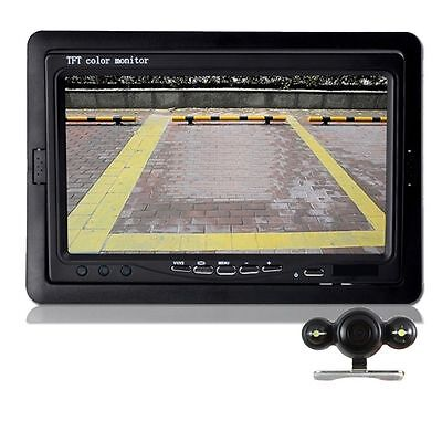 HD 7 Inch Car Rear View Monitor with Stand Night Vision Waterproof Backup Camera