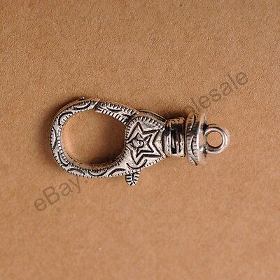 5pcs Tibetan Silver Beautiful Lobster Clasp 30X12MM CA2054