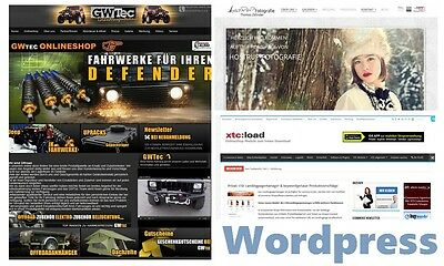 Installation Wordpress neuste Version + Erstellung Wordpress Webseite, Neu