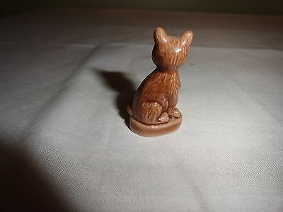 RED ROSE TEA ANIMAL FIGURINES - PET SHOP COLLECTION - BROWN CAT