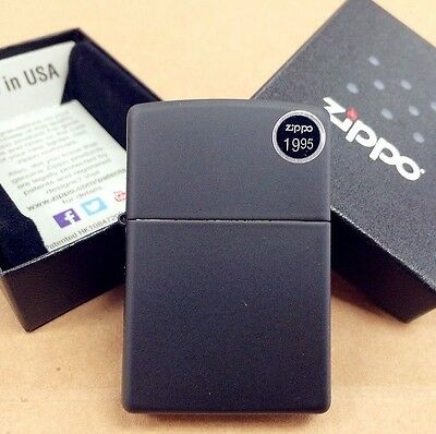 Zippo Black Matte Classic Windproof Lighter #218 New In Box