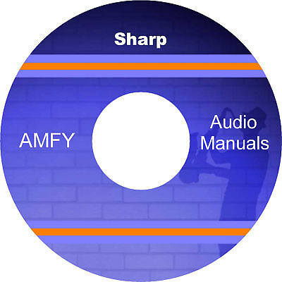 SHARP service manuals, owners manuals and schematics on dvd, all pdf files