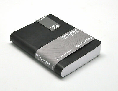 "Zequenz 360 Soft Bound Notebook Small, 4"" x 5.5, Black, Grid paper 400 Pages"