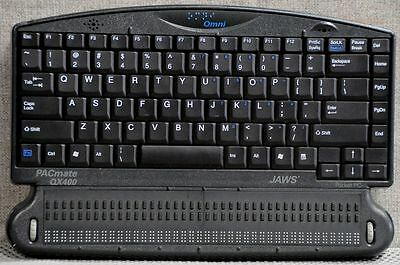 PacMate Omni QX440 Windows Laptop 4 blind w/ 40 cell Braille Display Refurbished