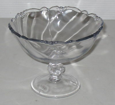 """Heisey WAVERLY CRYSTAL *5 1/2"""" FOOTED CHEESE DISH*"""