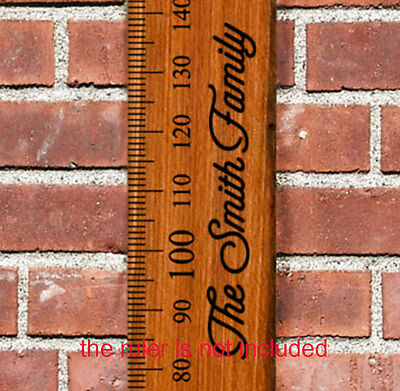Custom Growth Height Chart Ruler Add On Sticker Decal Family Name Ruler not incl