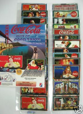Coca Cola Sign Of Good Taste 72 Card Set with Promotional Sheet - NEW from 1996