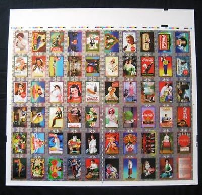 Coca Cola Super Premium Uncut Set of 60 Cards - 1995 NEW OLD STOCK