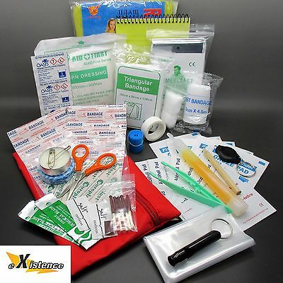 EMERGENCY FIRST AID MEDICAL SURVIVAL KIT scouts cadets military camping hiking
