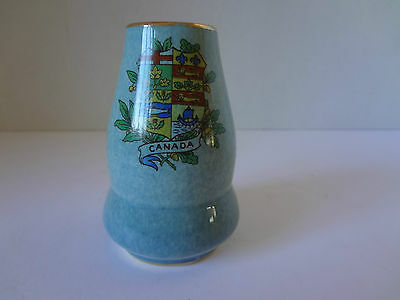 Antique Royal Winton Grimwades Miniature Vase Canada Crest Gold Gild