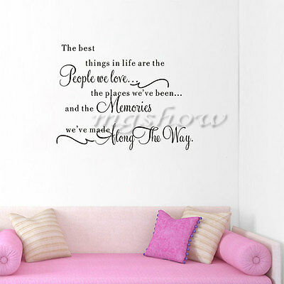 Quote The Best Things In Life Removable Wall Sticker Vinyl Art Decal Home Decor