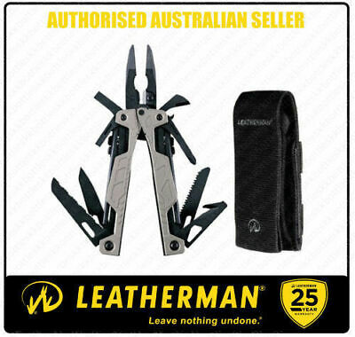 Leatherman OHT SILVER One Handed Multi Tool Knife & Molle Sheath *AUTHAUSDEALER*