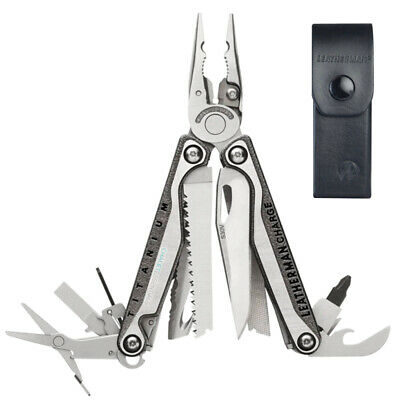 LATEST 2018 Leatherman CHARGE TTI + PLUS TITANIUM Multi Tool & LEATHER Sheath AU