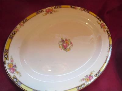 VINTAGE EDWARD KNOWLES FINE CHINA  41-  BRIGHT YELLOW FLORAL DECO 28 PIECE SET