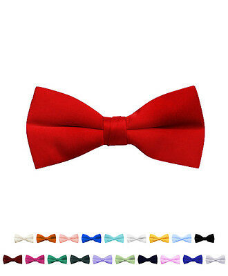 Boy's Stylish Poly Satin Banded Clip On Bow Ties (BBC1701)