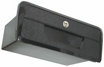 LARGE BLACK STORAGE RECESSED GLOVE BOX WITH LOCK & 2 KEYS Boat Caravan/Car/4x4