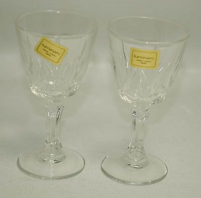 Luminarc Verrerie D'Arques Lot 2 Cordial Shot WINE Glasses France Made Crystal