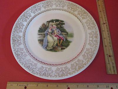 Collectible Plate Triumph American Limoges LOVE SEAT 22K Gold