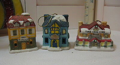 Lot 3 Badcock Collectible Village Bell Ornaments 1993/1996/1999  No Boxes