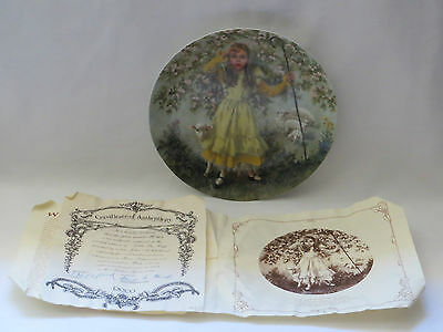 """Little Bo Peep"" Mother Goose Series Plate by John McClelland 1983 Certificate"