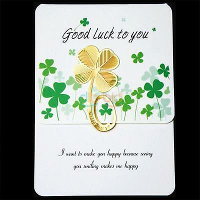 New Four-leaf Clover Reading Metal Clip Bookmark Gift Book Mark For Kids Tool