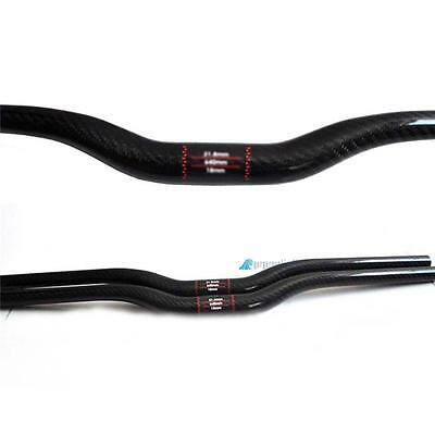 New 31.8mm 3K Carbon Fiber Handlebar MTB Bike Cycling Bicycle Riser Bar Black GL
