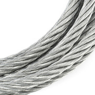 GALVANIZED STEEL WIRE ROPE METAL CABLE 1mm 2mm 3mm 4mm 5mm 6mm 8mm