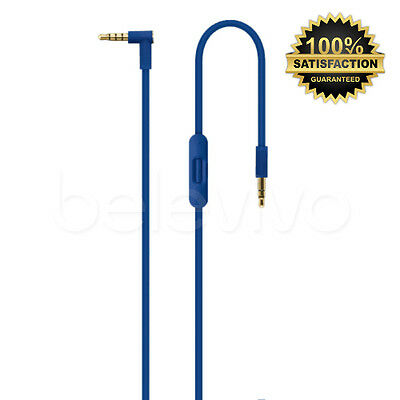 Blue Replacement Cable Remote Mic Control Talk Lead Wire For Beats By Dr Dre