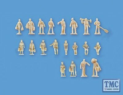 5157 Modelscene N Gauge Assorted Unpainted Figures set B Pack of 20