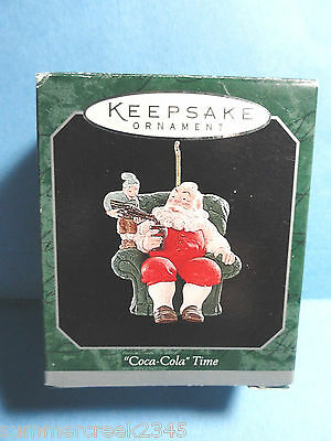 "Hallmark ""Coca-Cola Time"" Miniature Ornament 1998"