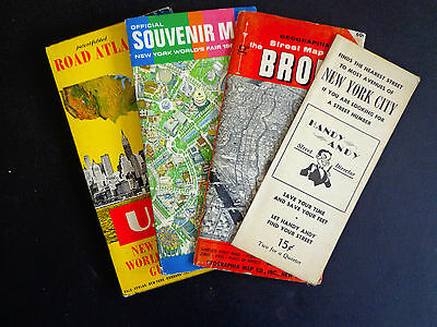 Vintage (c. 1960)  Maps & Guides to NYC: Road Atlas, World's Fair, Bronx #2001