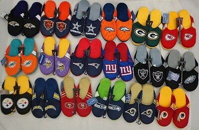 NFL Forever Collectibles Mens Jersey Mesh Slippers House Shoes
