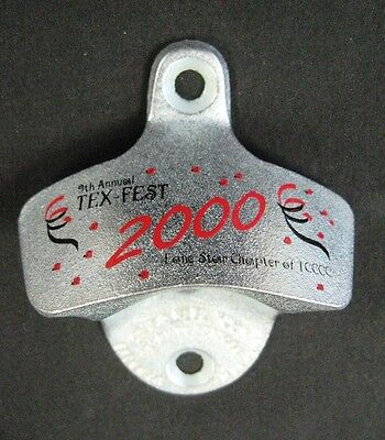 Coca Cola Stationary Tex Fest (Texas) Bottle Opener CC Event -NIB 2000 -Free S&H