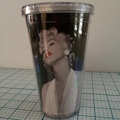 New Vintage Marilyn Monroe Drink Tumbler With 2 Classic Images Of Marilyn Monroe