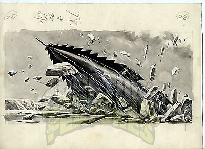 20,000 LEAGUES UNDER THE SEA Original Art NAUTILUS Japanese Storybook x5 DISNEY