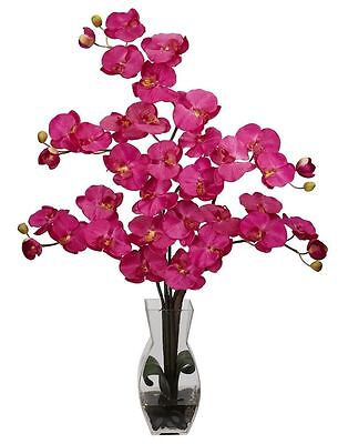 Phalaenopsis Silk Orchid in Water Vase in 8 colors by Nearly Natural | 29 inches