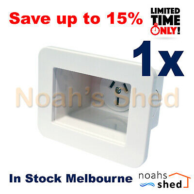 Recessed Wall Plate Single 1 Gang Electrical Power Point Outlet GPO 250V AC 10A