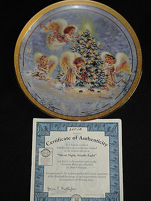 SILENT NIGHT COLLECTOR PLATE BY BRADFORD EXCHANGE