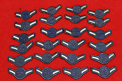 20750) Patch Lot Chevrons Rank Insignia Airman USAF Air Force Military