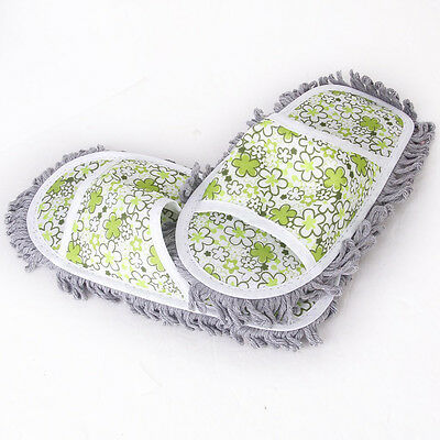1Pair Dusting Mop Slippers Shoes Floor Cleaner Cleaning Gift xmas