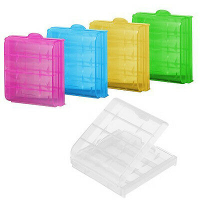 5x Hard Plastic Battery Case Holder Storage Box for AA / AAA Battery Environment