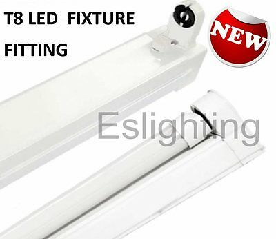 Single  Fixture T8 1200Mm 4Ft Fitting Batten For Led Tube Fluorescent Shop Light