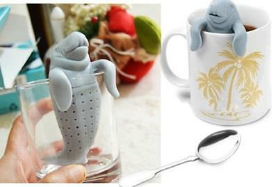 Manatee Infuser Silicone Loose Tea Leaf Strainer Herbal Spice Filter Diffuser DS