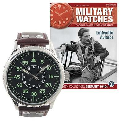 Military Watches Issue 2 1940's Luftwaffe Aviator - Mag & Watch NEW SEALED