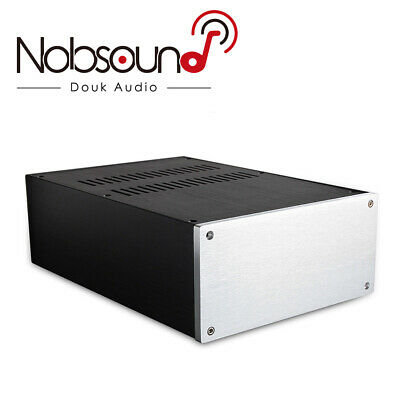 Aluminum Enclosure Amplifier Chassis PSU Cabinet DIY Case Box (W220×H100×D311mm)