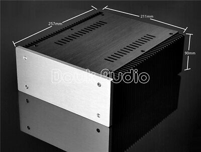 DIY Aluminum Enclosure DAC Case Cabinet Amplifier Chassis New(W211×H90×D257mm)