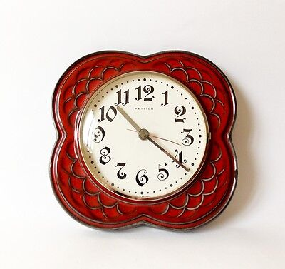 Vintage Art Deco style 1970s HETTICH Ceramic Kitchen Wall clock Made in Germany
